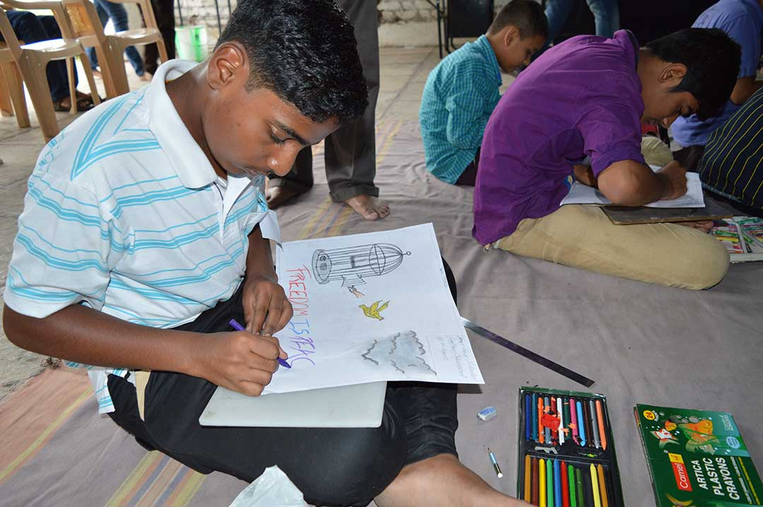 'Art for Peace' Activity at Nigadi, Pune