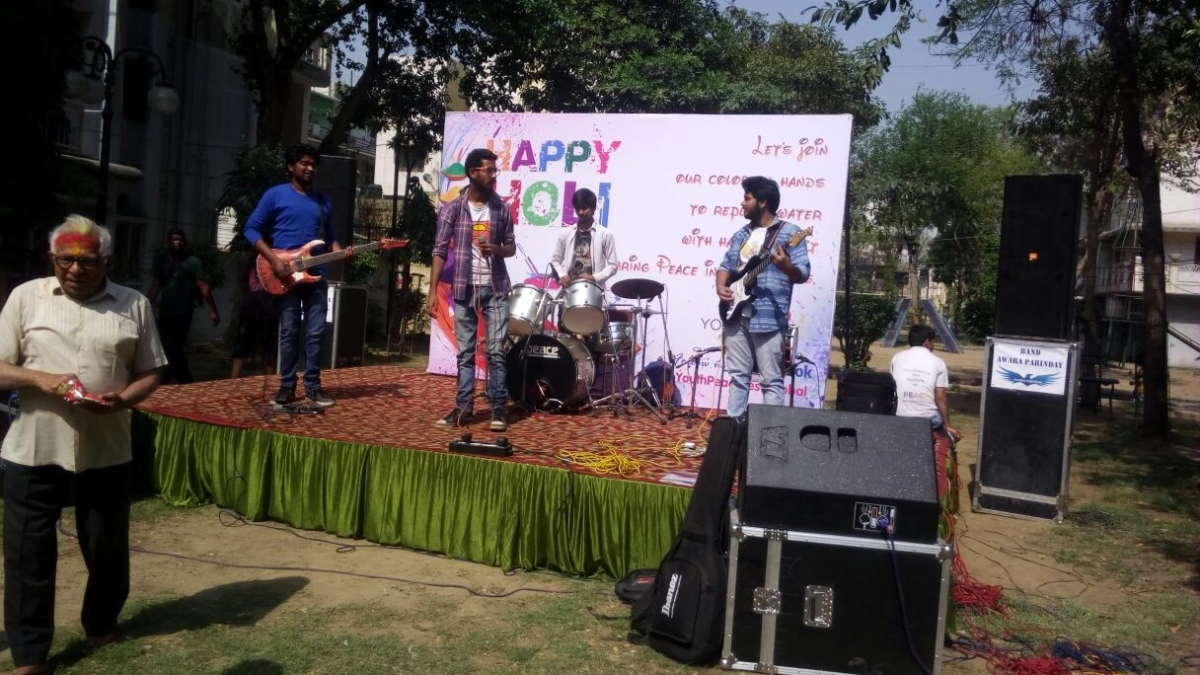 YPF CELEBRATED PEACEFUL HOLI AT SANGAM APARTMENT, ROHINI