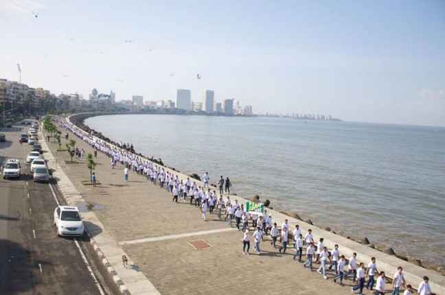 Peace Walk at Mumbai Queen's Necklace