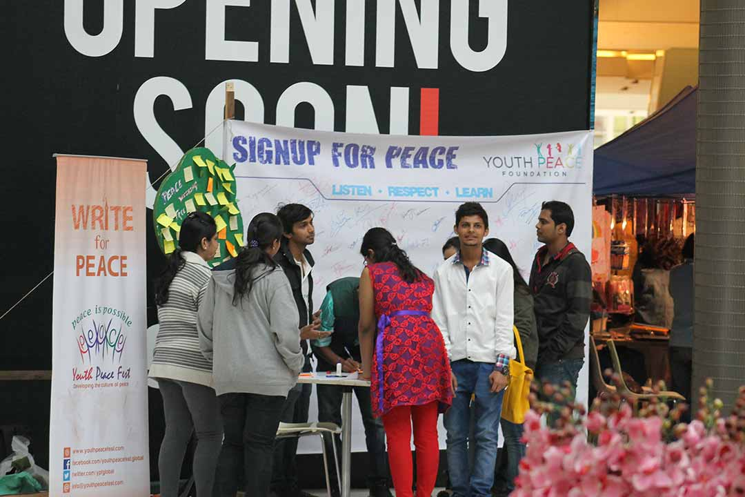 Peace Wishing Tree & 'Signature Campaign' in KPP Mall, Pune