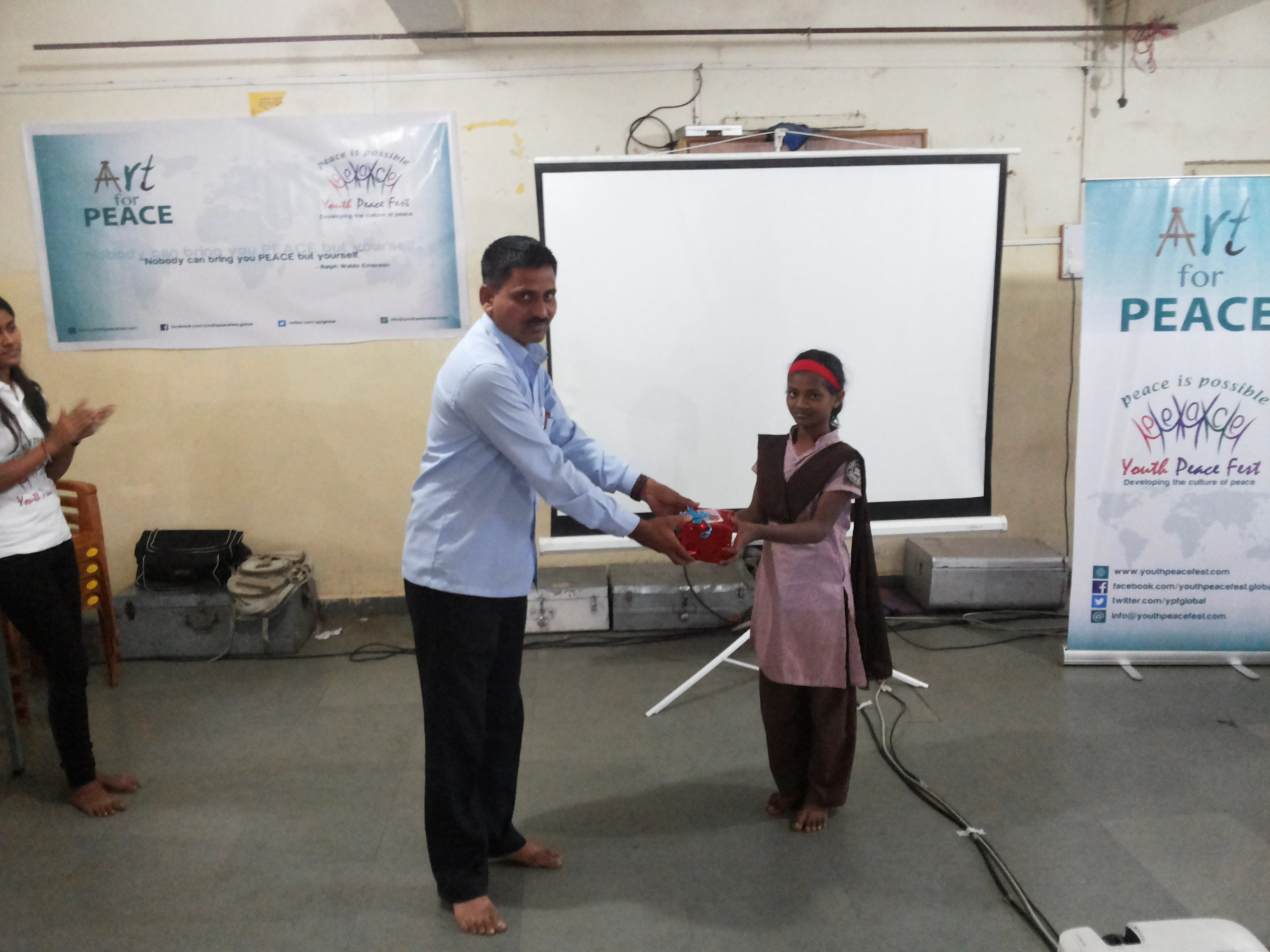 YPF Write for Peace' and 'Art for Peace' at Sharda Ashram, Shirgaon, Pune  (1)