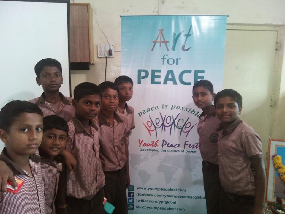 YPF Write for Peace' and 'Art for Peace' at Sharda Ashram, Shirgaon, Pune  (4)