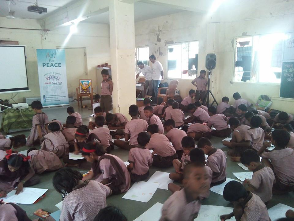 YPF Write for Peace' and 'Art for Peace' at Sharda Ashram, Shirgaon, Pune  (5)