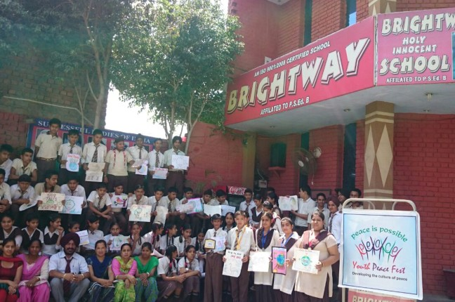 Art for Peace at Brightway high School, Amritsar