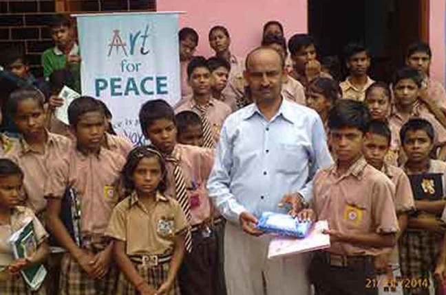 ART FOR PEACE AT V.K.MEMORIAL SCHOOL, GHAZIABAD