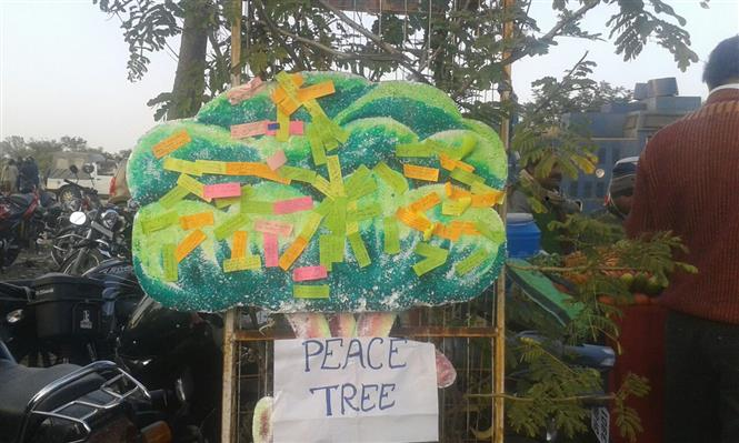 YPF Peace Wishig Tree & Signature Campaign at JSCA, Ranchi, Jharkhand