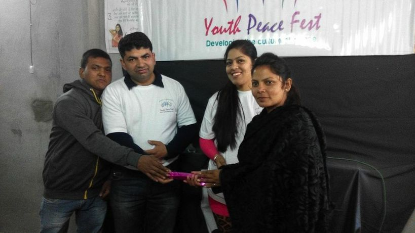 YPF Jalandhar's Peace Activity at 'Rani Beauty Academy'