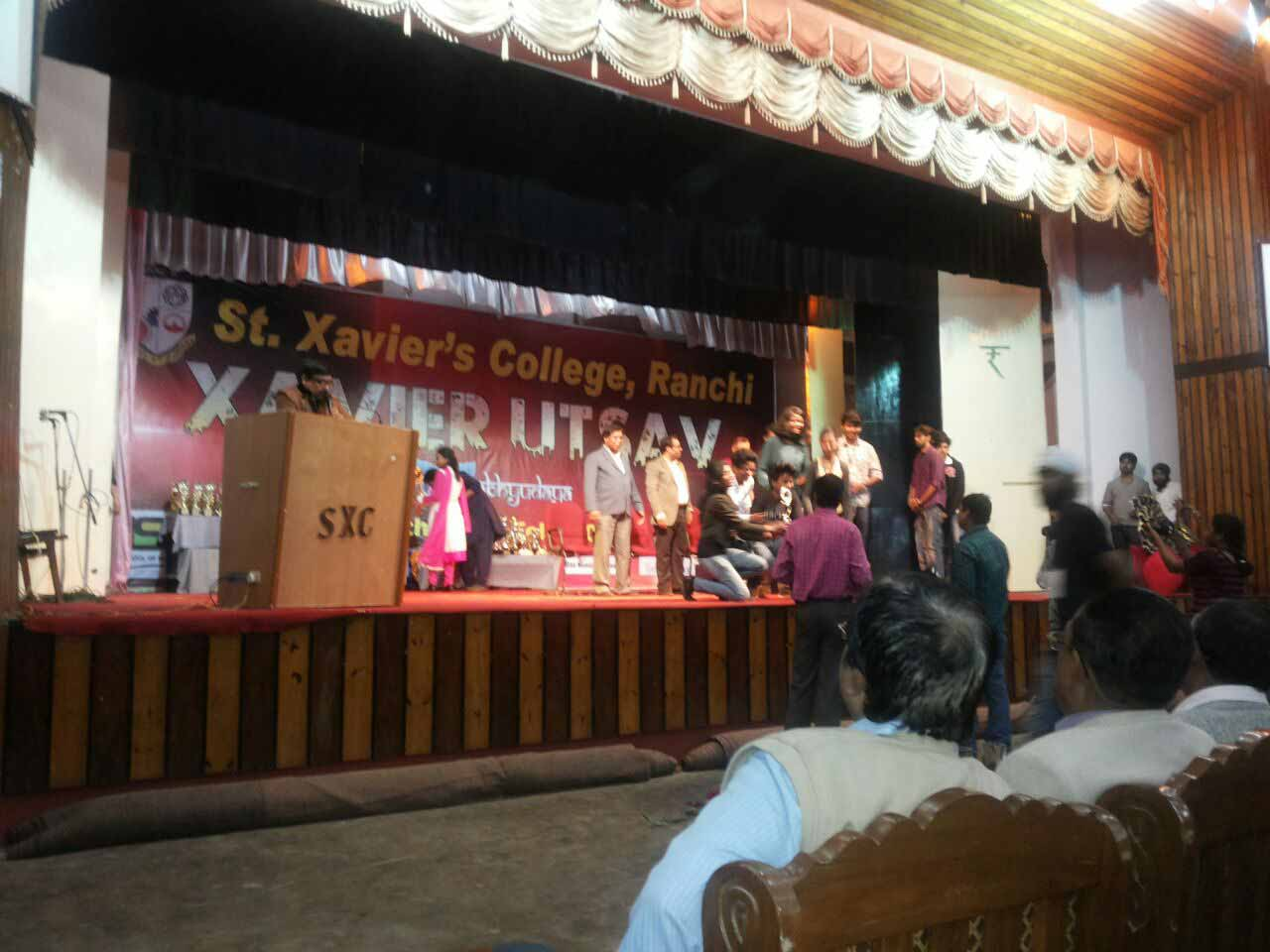 YPF Talk, Extempore & Sign for Peace at St Xavier's College, Ranchi