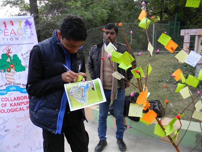 YPF Sign for Peace at Kanpur Zoo (4)