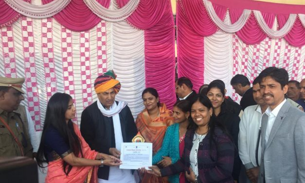 YPF has received citation from Government of Rajasthan